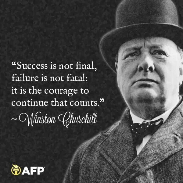 How to Handle Failure and Success in Your Business! - FreeU |Powerful Quotes About Failure Churchill