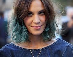 Short Hair Blue Tips Google Search Pink Pinterest