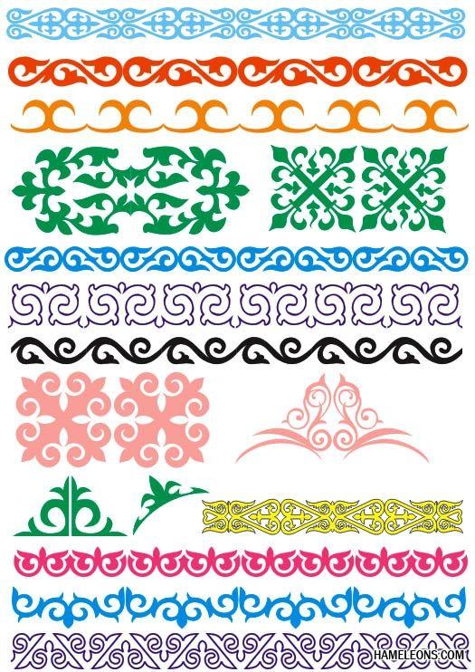 Казахский орнамент в векторе | Трафареты, Орнаменты, Шаблоны