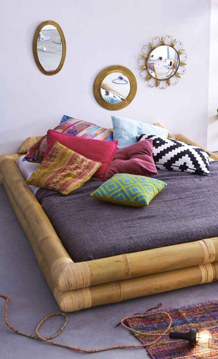 Balyss European King Bed Frame Bamboo Bedding Bamboo Furniture