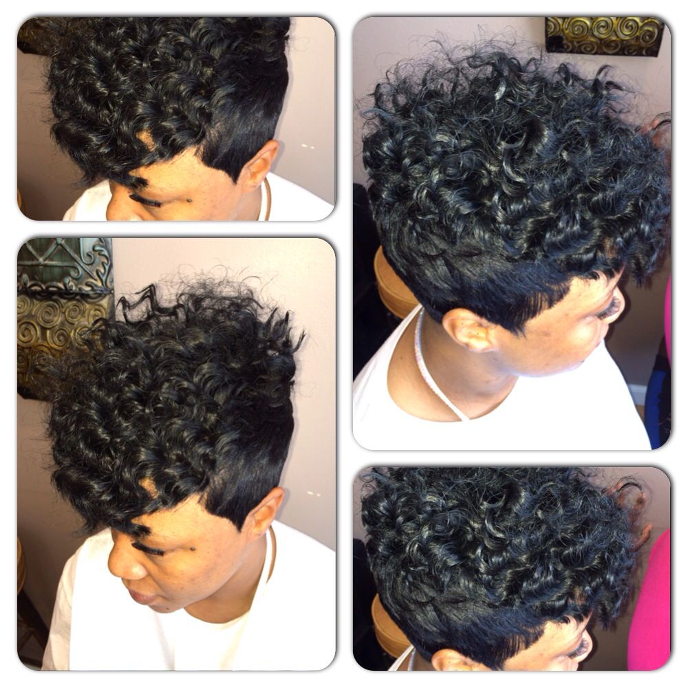short curly quick weave | my work | short hair styles, short