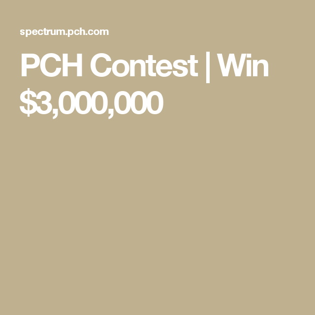 Pch 10000000 sweepstakes