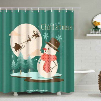 Christmas Shower Curtains Cheap Casual Style Online Free Shipping
