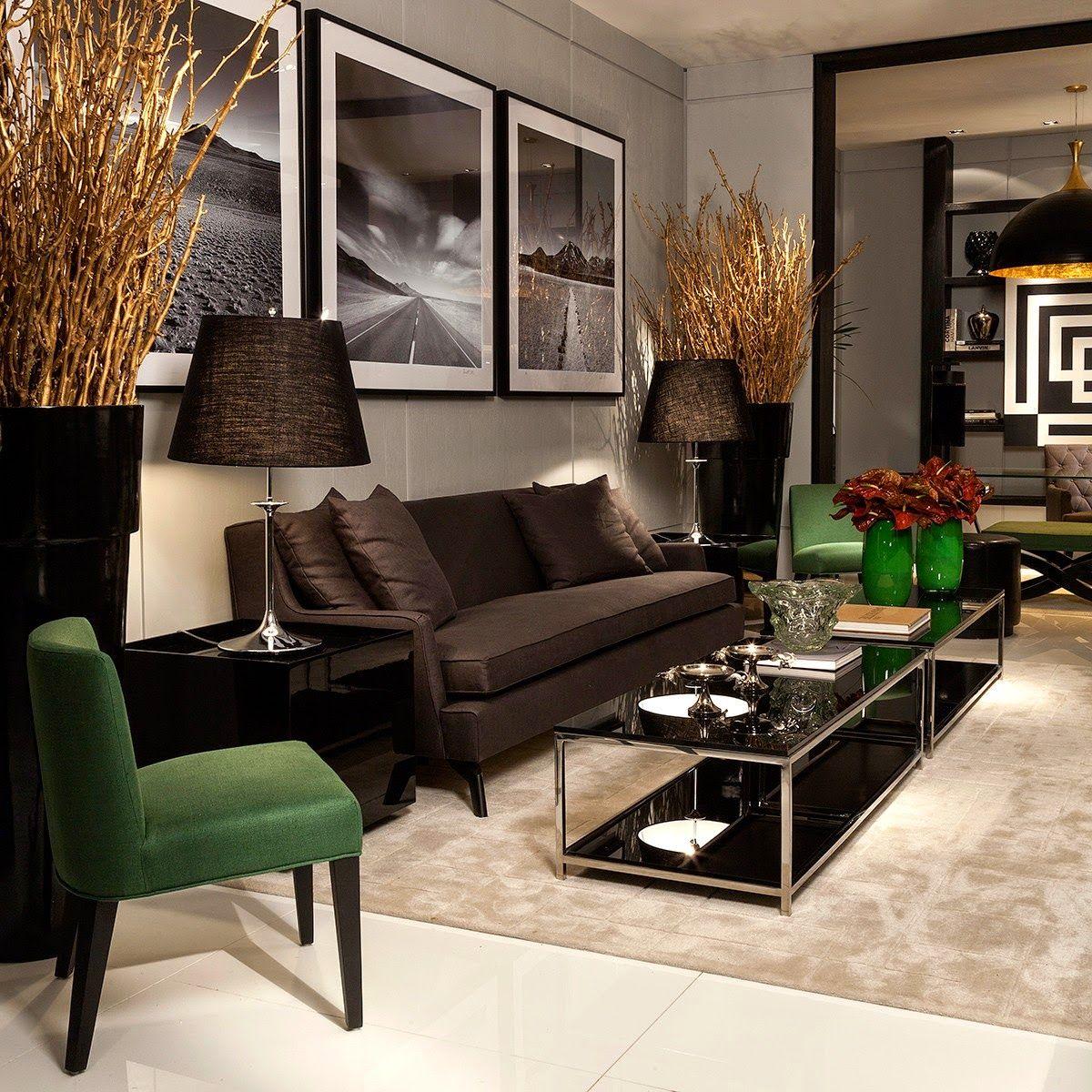 Ambientes sofisticados com estilo contemporâneo e clássico