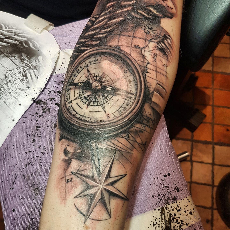 Img_20170228_230838_737   Sleeve tattoos, Tattoos, Compass ...