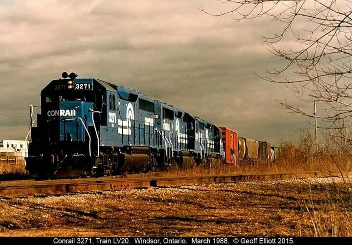 Conrail Gp40 2s Conrail Pinterest Locomotive