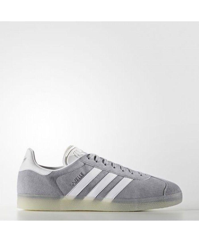 quality design 8fc01 28989 Adidas Gazelle Mens Shoes Mid Gray White Metallic Silver-Sld Bb5502