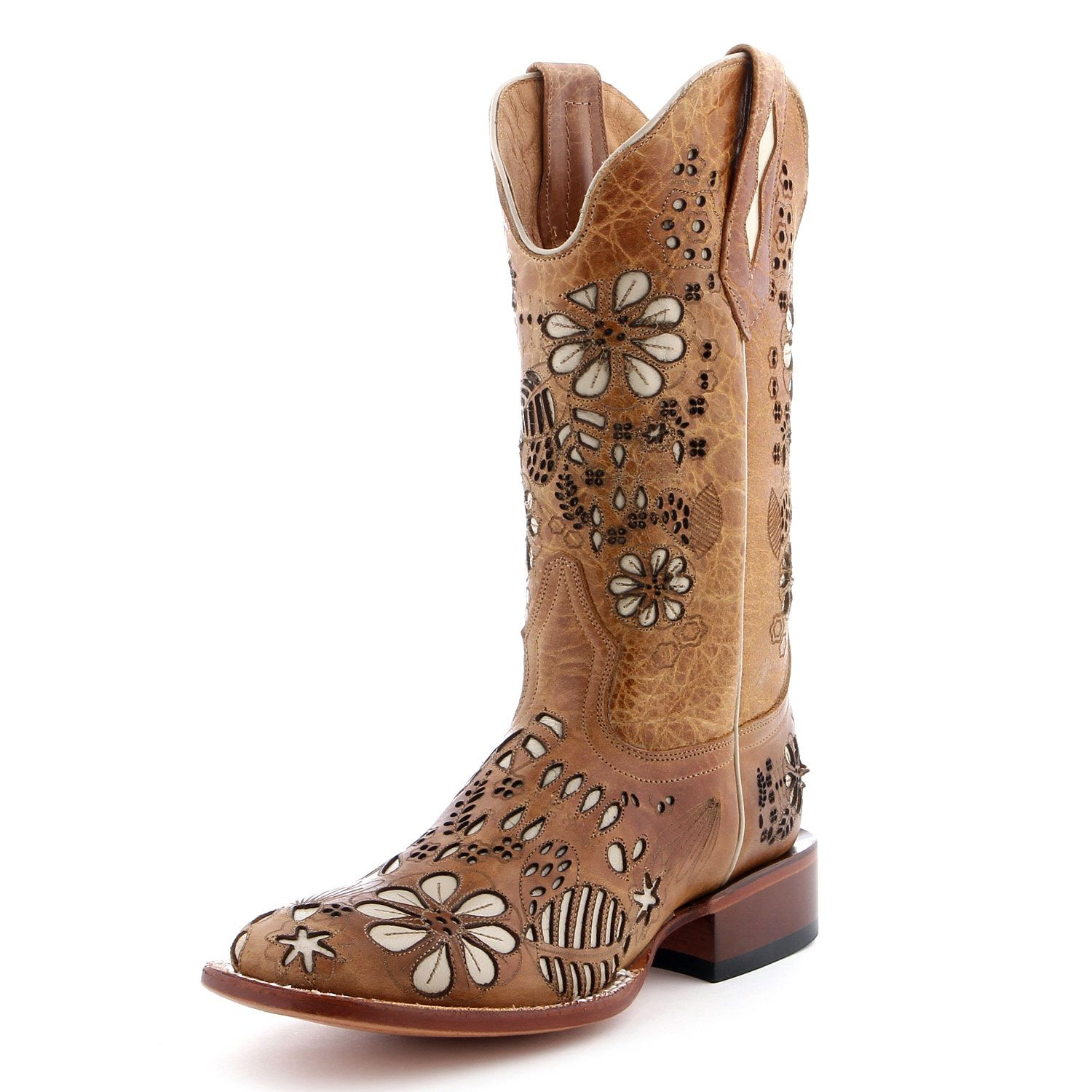 c9a3daff94f Johnny Ringo Floral Inlay Cowgirl Boots