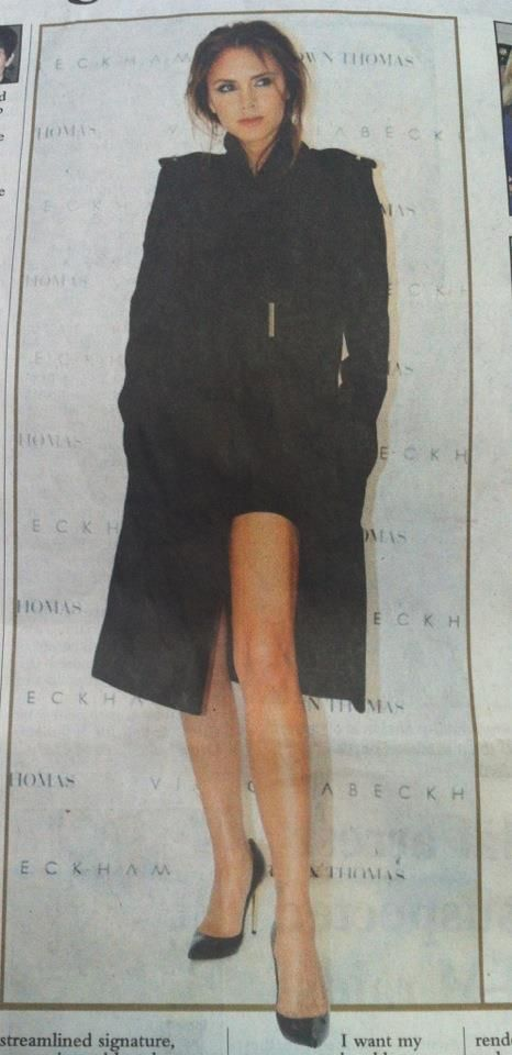 I see Victoria Beckham is now trying to make her left leg famous. It must be jealous of Angelina Jolie's right leg.