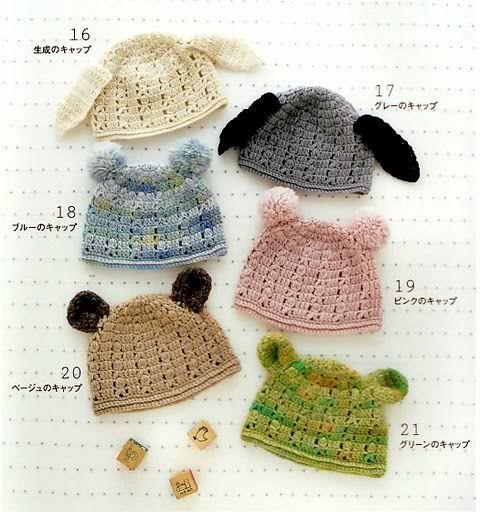 Tutorial Gorros con Orejas de Crochet | punto de media y ganchillo ...