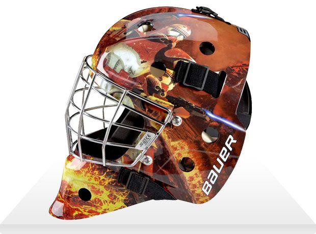 Star Wars Hockey Goalie Masks By Bauer Craziest Gadgets Goalie Mask Star Wars Trooper Hockey Goalie
