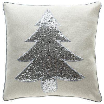 Willa Arlo Interiors Marylou Christmas Tree Throw Pillow Wayfair In 2020 Gold Pillows Throw Pillows Christmas Christmas Tree Pillow