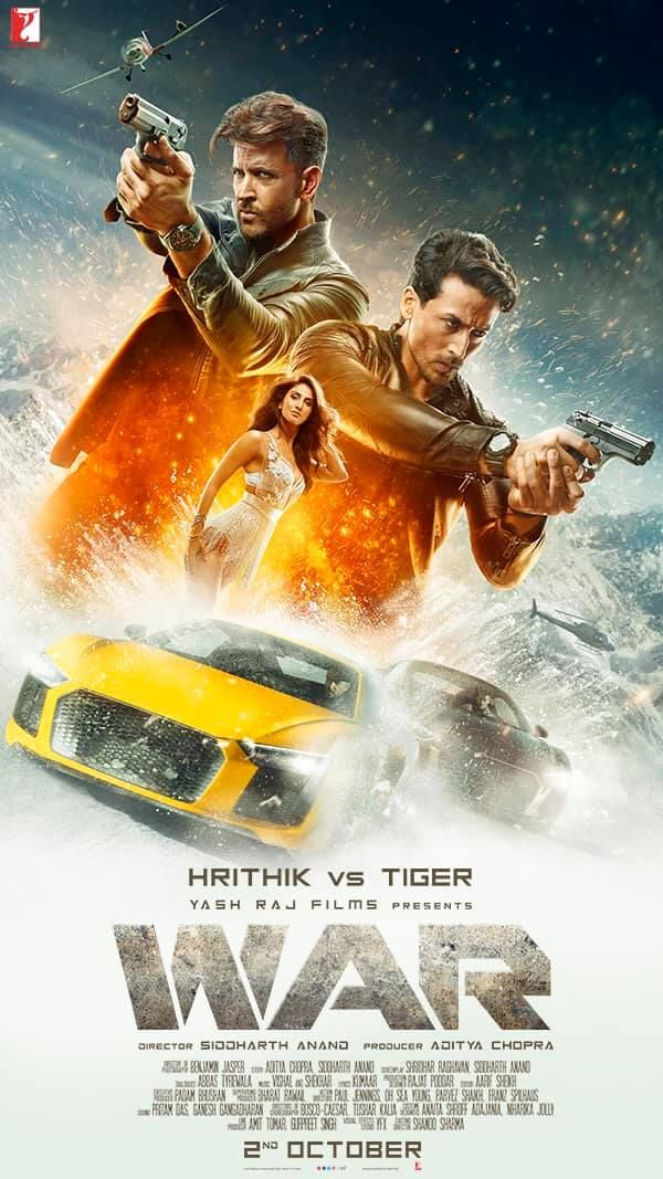 War 2019 Indian Film Rithik Roshan Vs Tiger Shroff