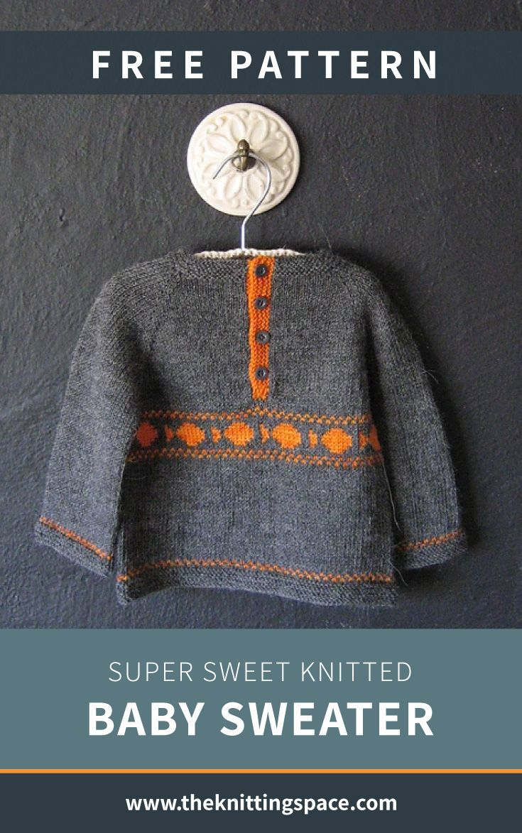 Photo of Super Sweet Knitted Baby Sweater [FREE Knitting Pattern]