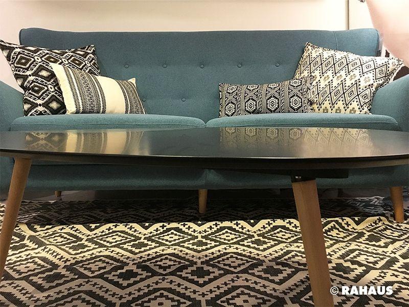 RETRO #Sofa #Couchtisch #Teppich #carpet #Kissen #Stoff #Interior