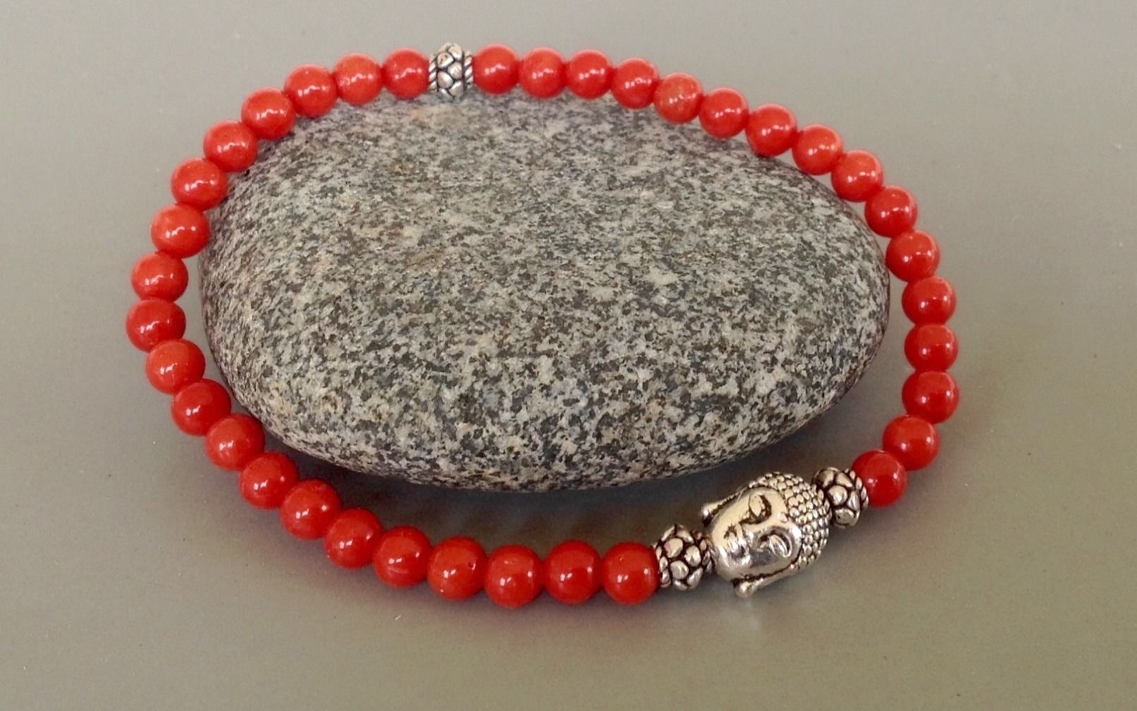 Collier corail rouge paris