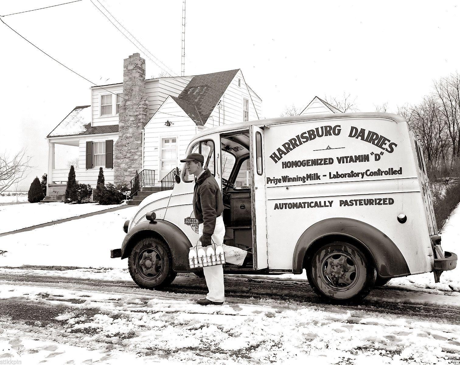 1949 photo Negative DIVCO MILK Truck Harrisburg PA Dairies Delivery ...