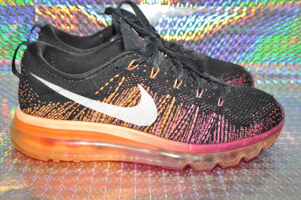 fbd211a5665 Women s Nike Flyknit Air Max Running Shoes 620659 015 Size us -8.5-B ...