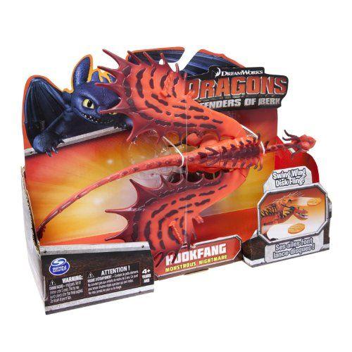 Hookfang Monstrous Nightmare Dreamworks Dragons Defenders of Berk Action Dragon Figure