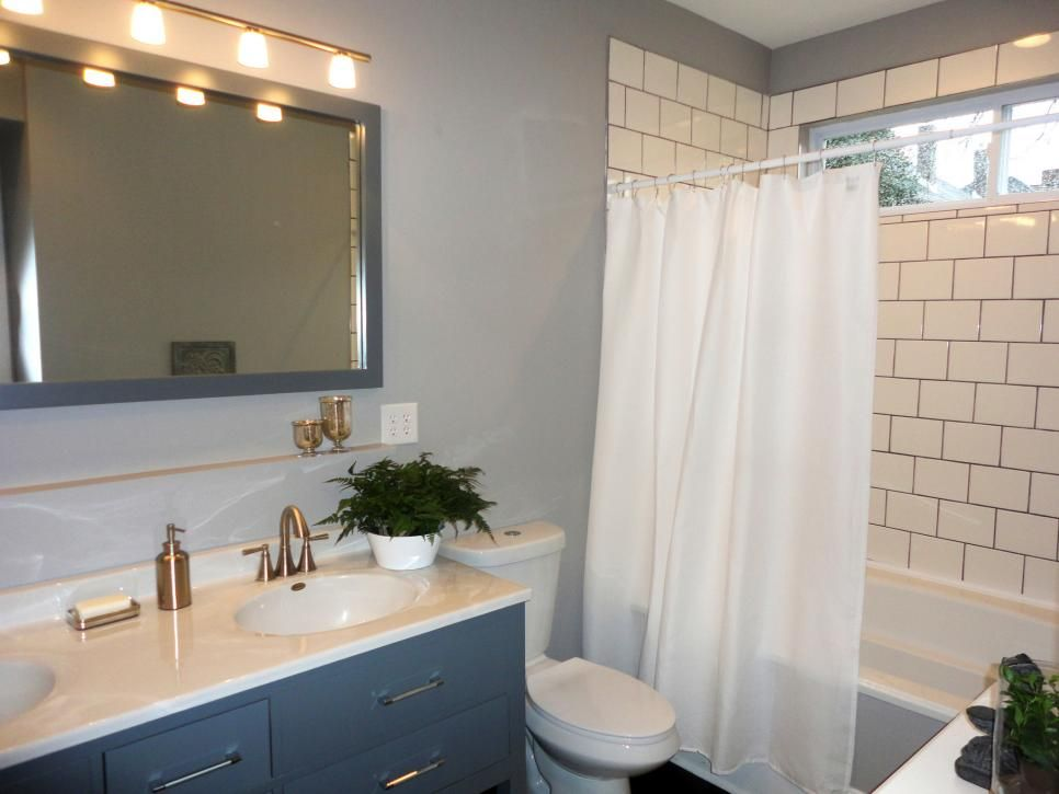 First Look Hgtv S Good Bones Bathroom Design Double Vanity