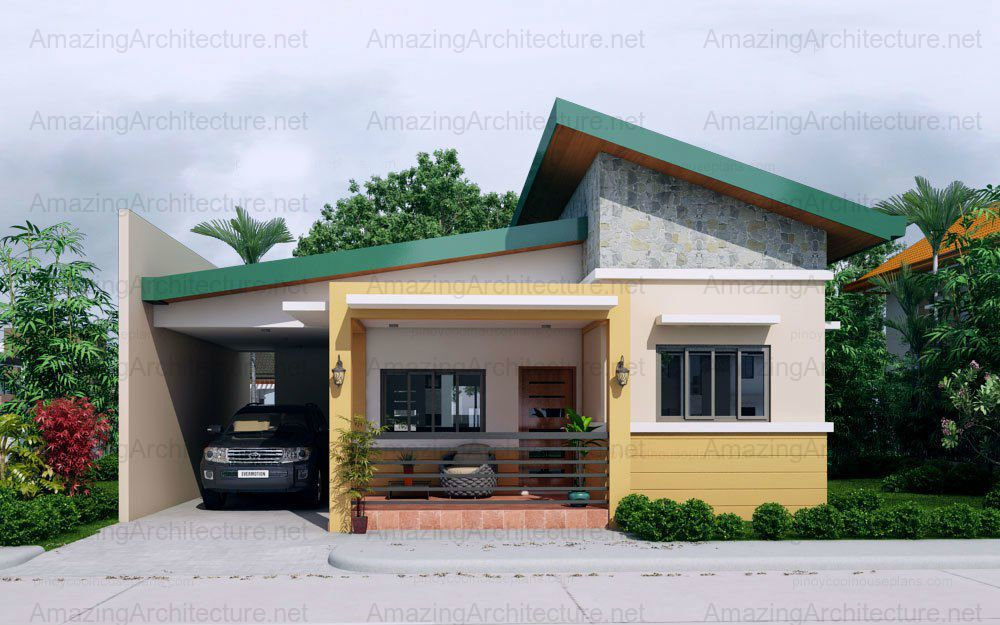 Sabrina One Storey Single Attached Amazing Architecture Magazine One Storey House Simple House Plans Modern Bungalow House