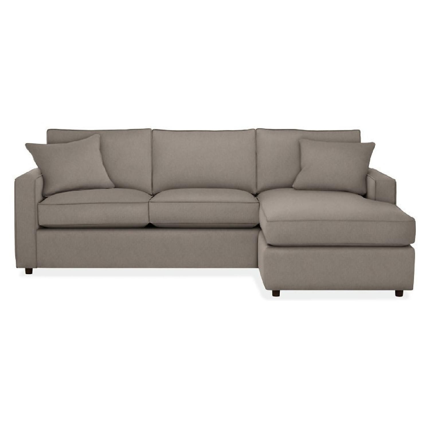 Room board york reversible chaise sectional sofa in good condition available for sale in nj montclair 07042