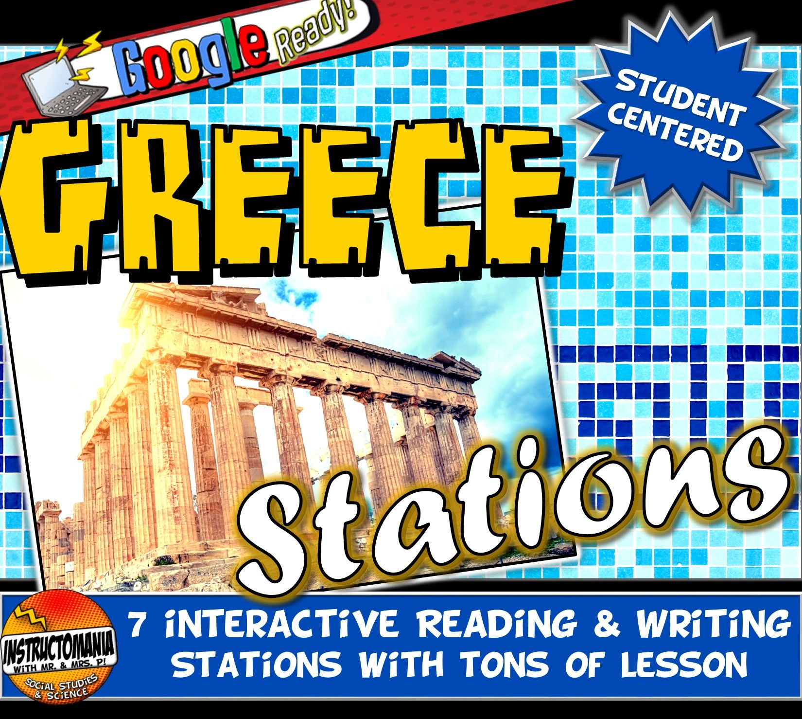 Ancient Greece Stations Graphic Organizer Amp