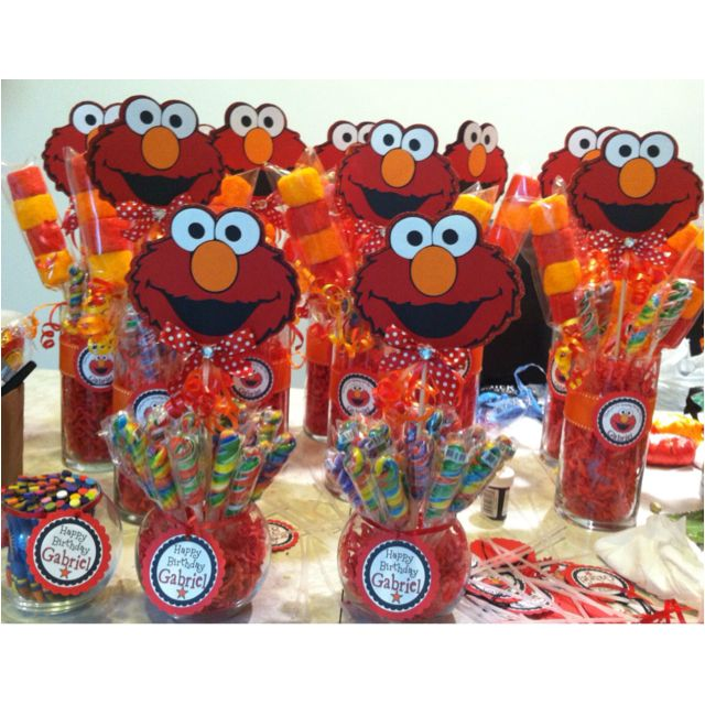 Elmo centerpieces Its party time Pinterest Elmo