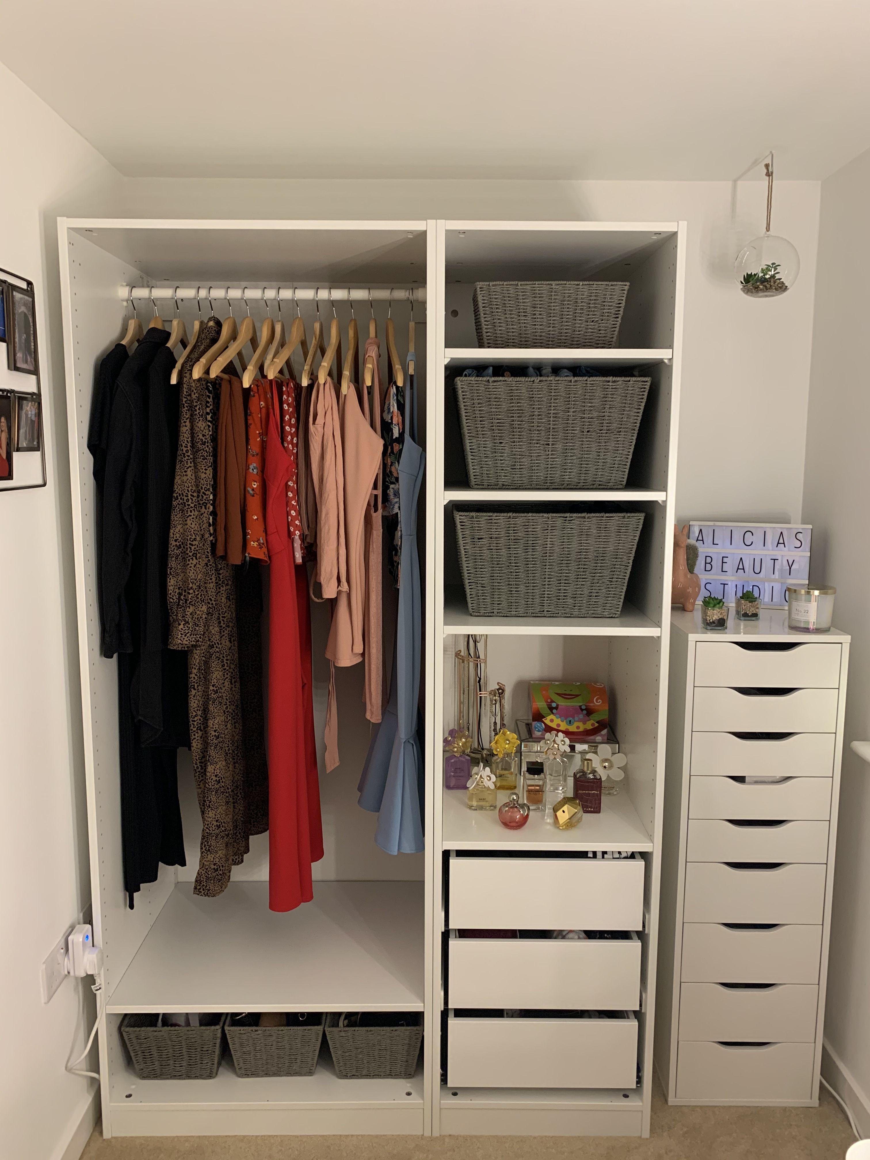 Open wardrobe inspo in 2020 Ikea wardrobe, Open wardrobe