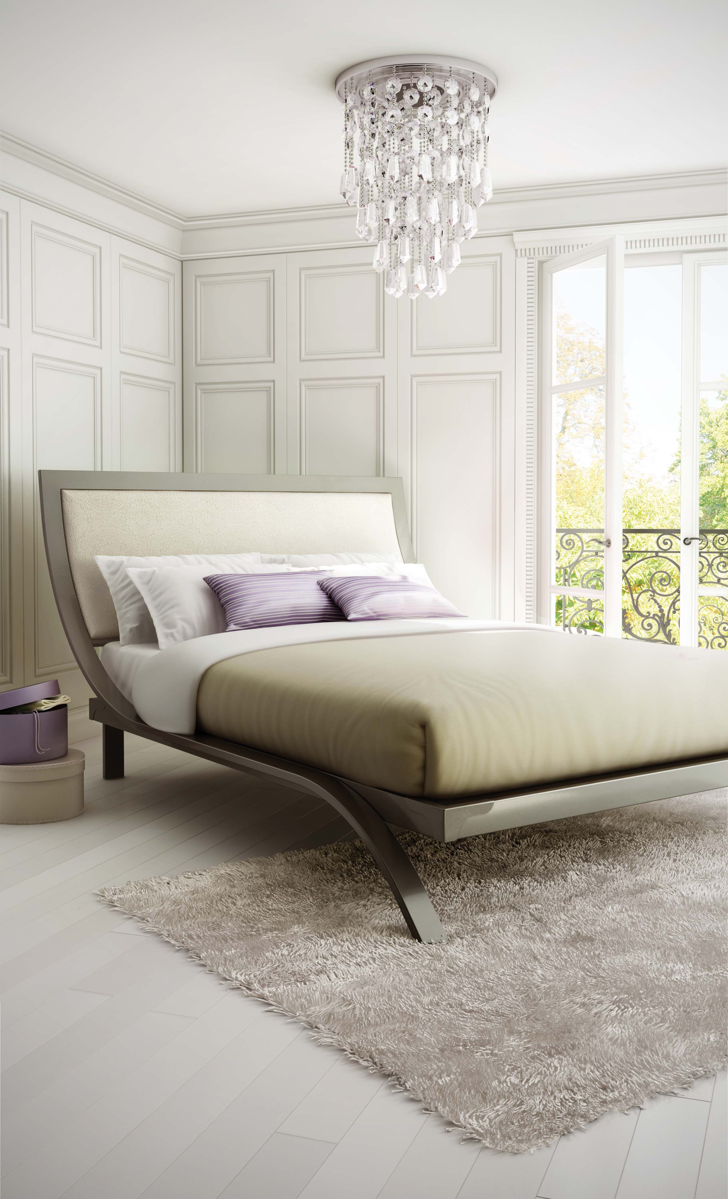 Cleopatra Bed available in different metal finishes and headboard ...