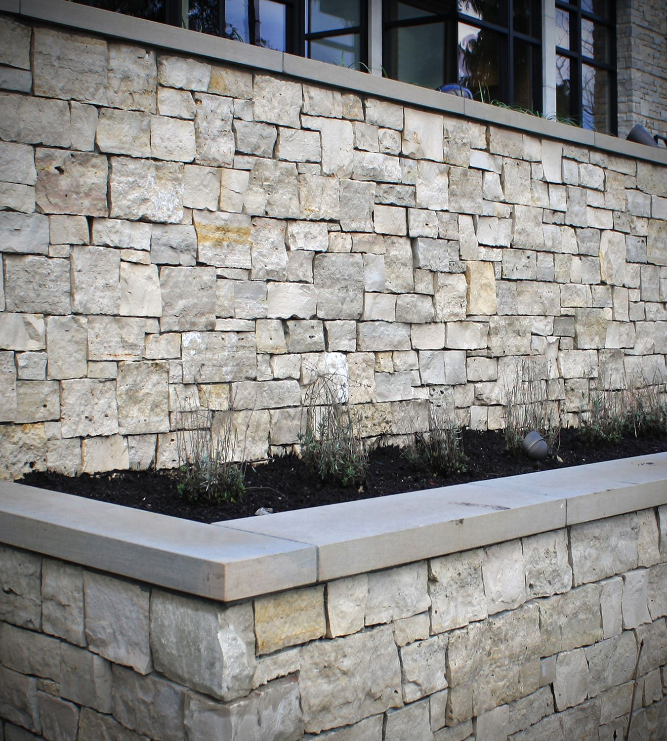 Modern Exterior Stone Home Outdoor Fireplace Wall Stone Veneer
