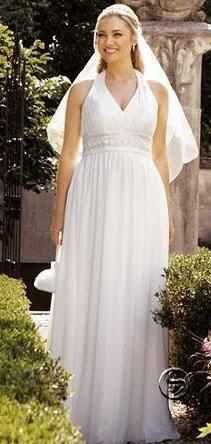 Vestidos de novia para disimular barriga