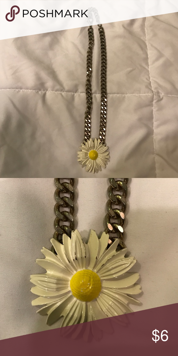 Flower Chain Necklace Daisy Flower Jewelry Necklaces