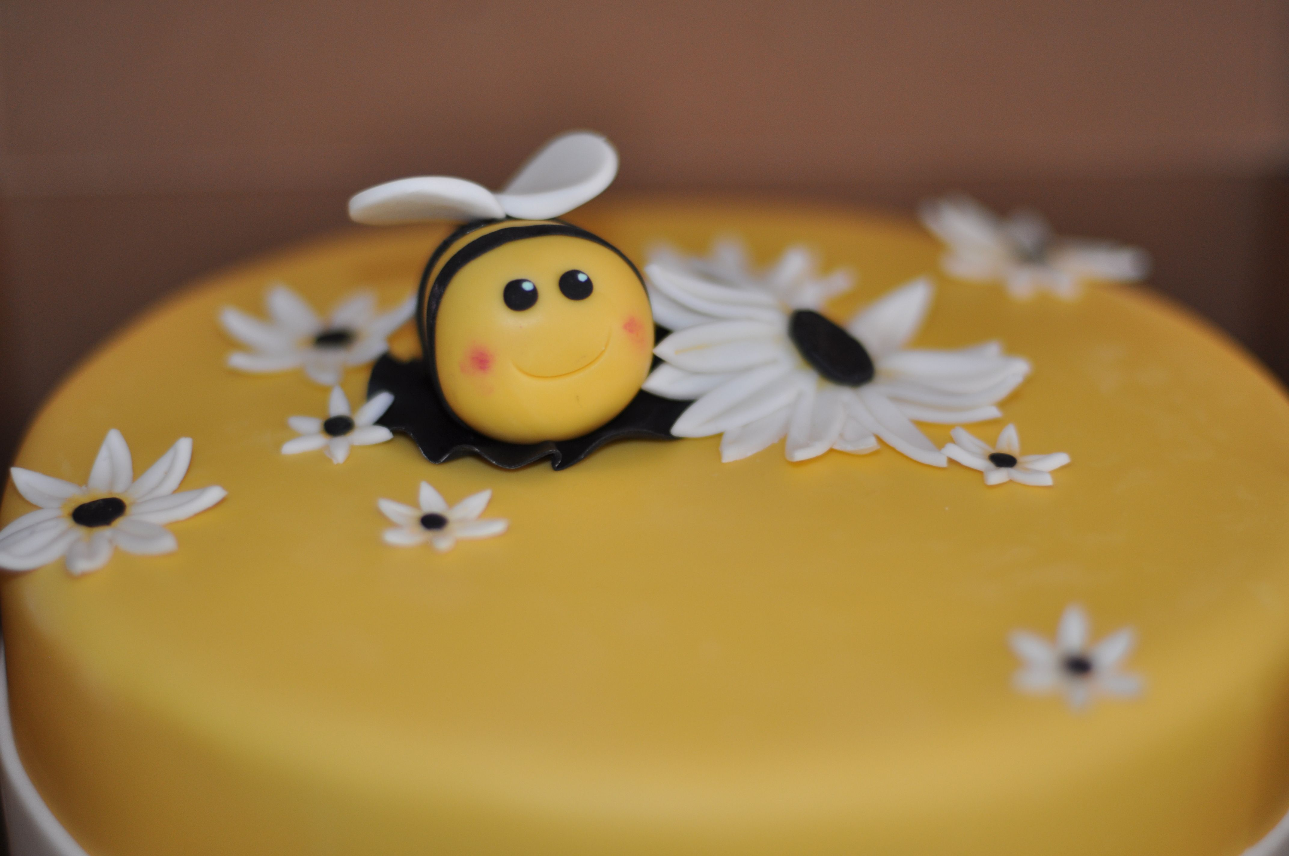 Bumble Bee Birthday Cake With Images Bee Cakes Bumble Bee