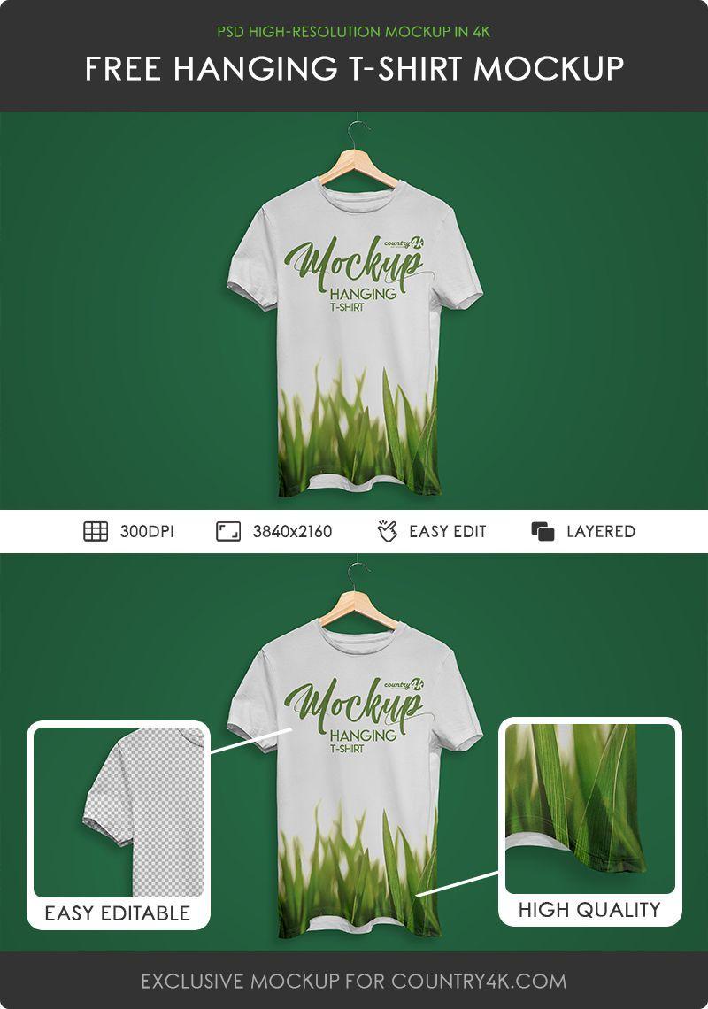 Download Https Country4k Com Product Free Hanging T Shirt Psd Mockup In 4k Shirt Mockup Mockup Tshirt Mockup