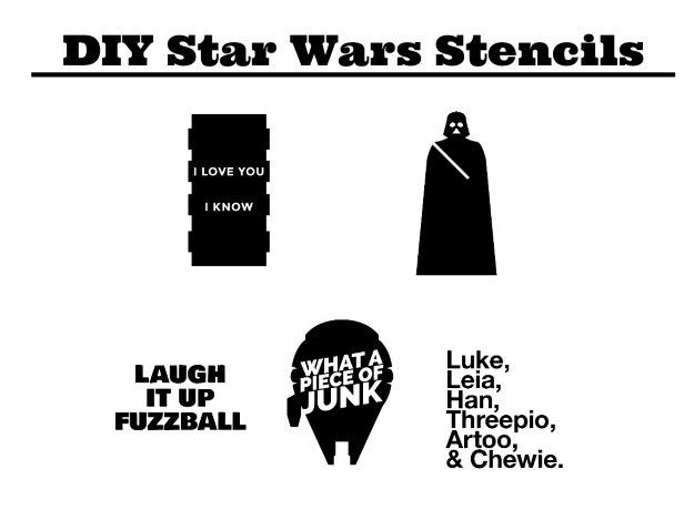 photo relating to Star Wars Stencils Printable named Cost-free Printable Star Wars Stencils Disney Magic T blouse