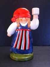 Goebel Figurine Candle Holder Lisa Larson Girl with Red Cap 1987 Vintage