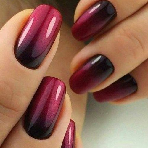 ombre nails fall - 55