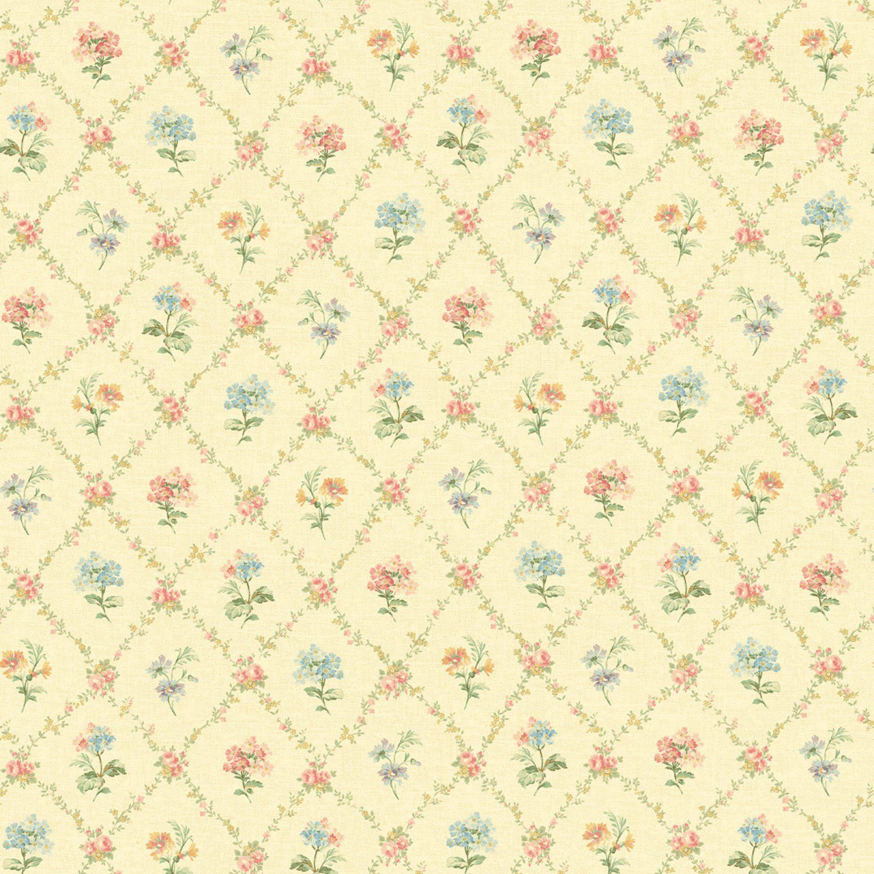 Fairwinds Studios Mini Floral Trellis Wallpaper - 522-30805