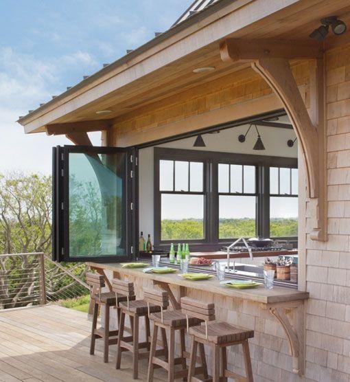 Cocinas abiertas al exterior bajo cubierta ideas para Cocina exterior