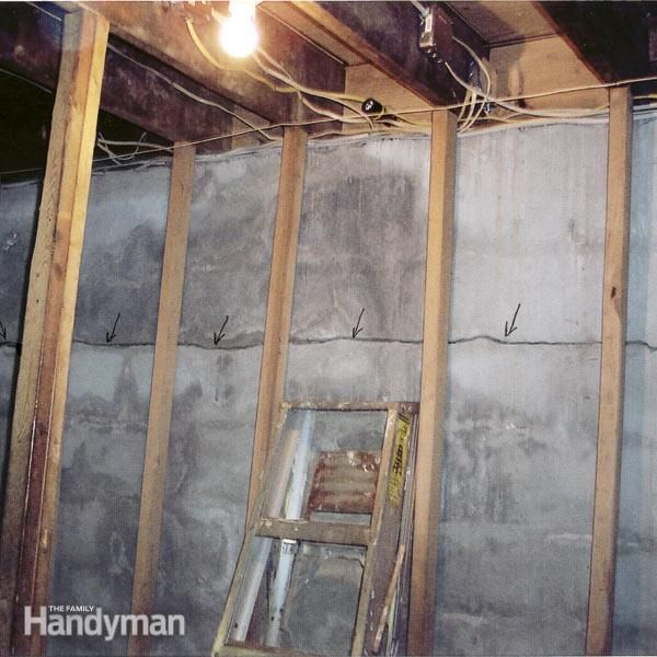 how to fix a cracked basement wall basement walls basements and walls rh pinterest com how to build a basement wall to code how to build a basement wall against concrete
