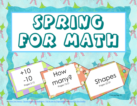 Spring for Math- fun free math pack for kindergarten and first grade ...