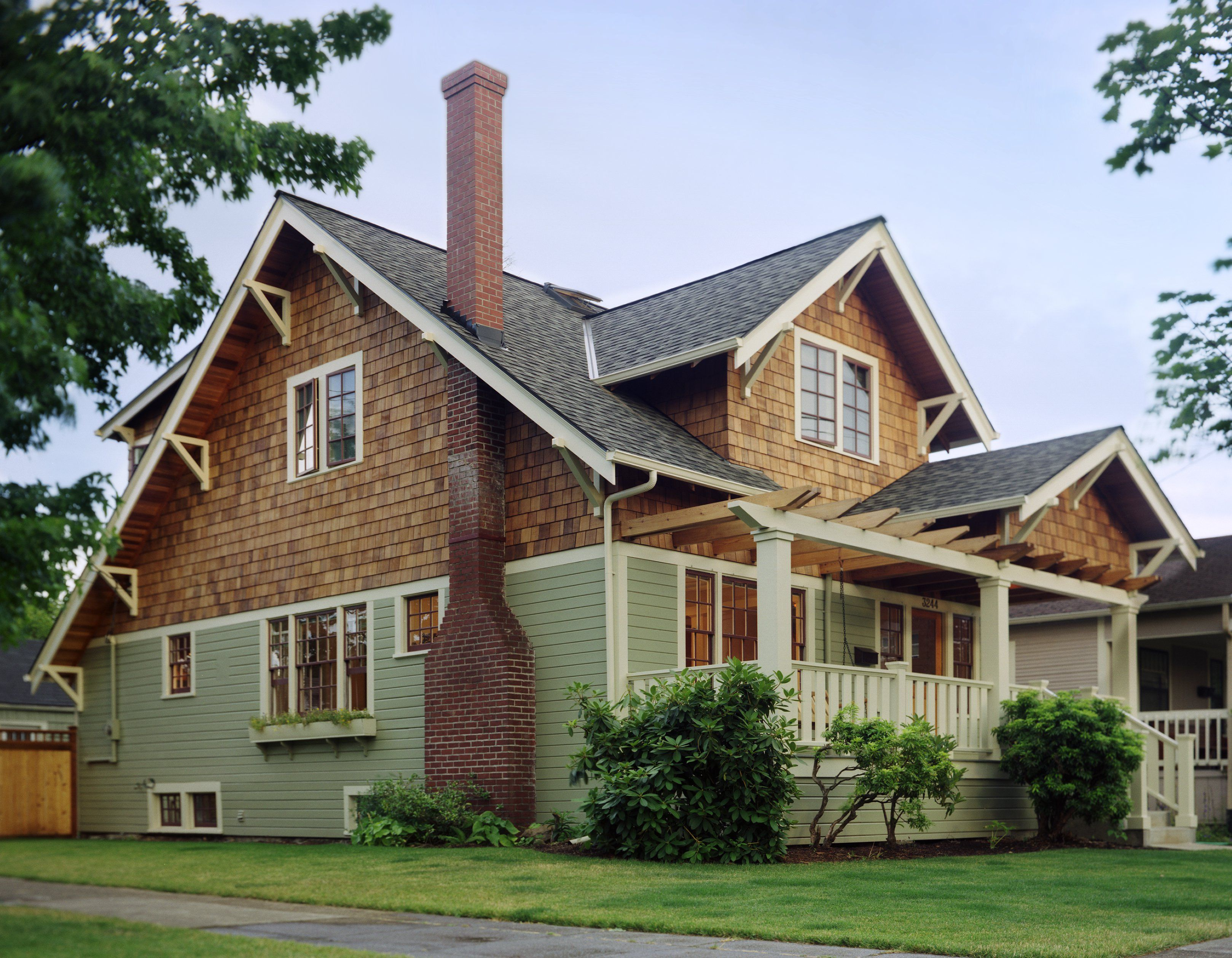 image result for brick with cedar shake siding | home ideas