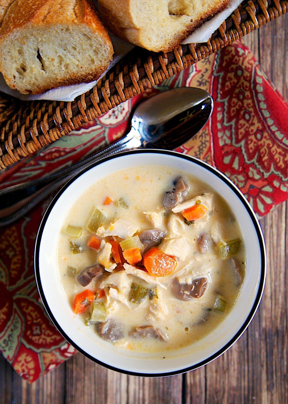 Creamy Chicken Soup Creamy Chicken Soup Creamy Chicken Soup Recipe Chicken Soup Recipes