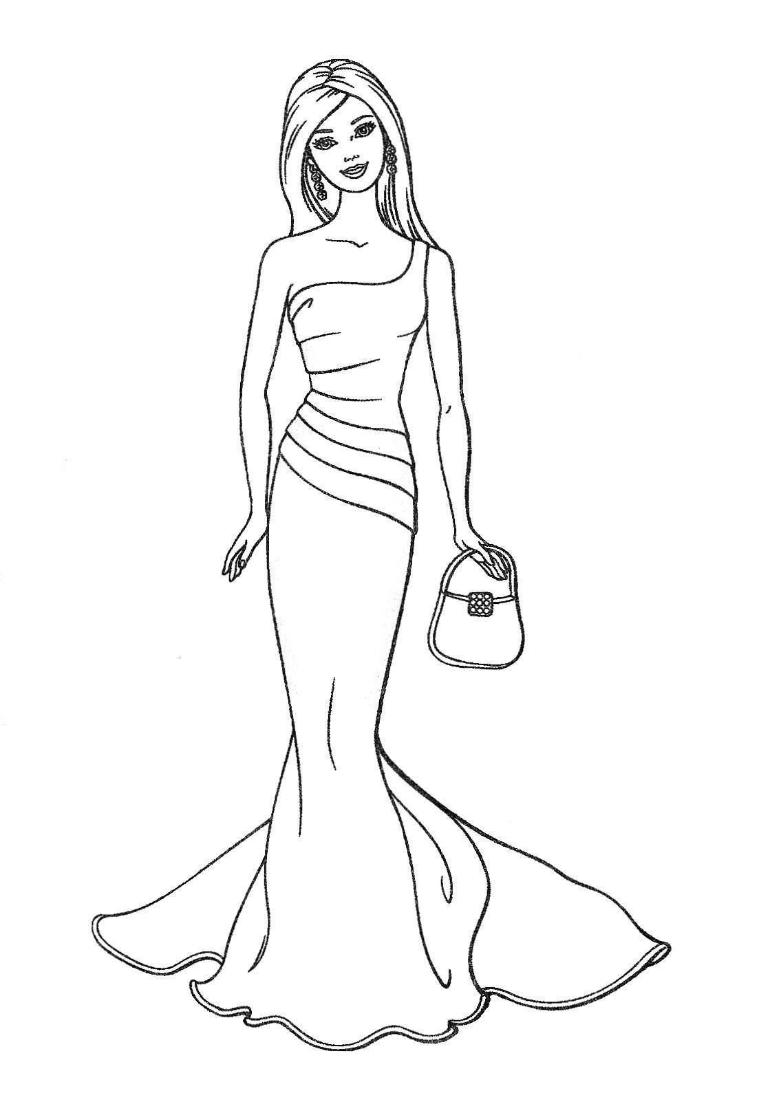 barbie coloring pages full size - photo#24