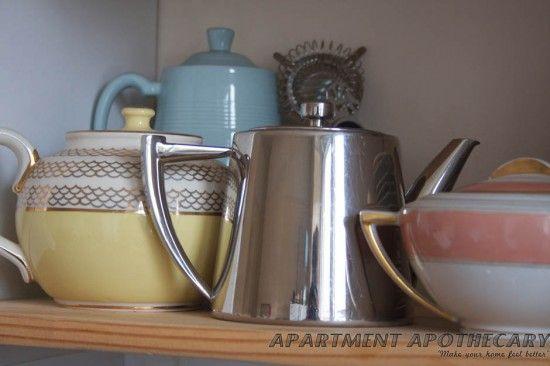 vintage kitchen crockery www.apartmentapothecary.com