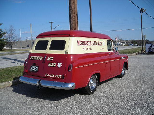 1958 Chevy Panel Truck Panel Truck Old Pickup Trucks Classic