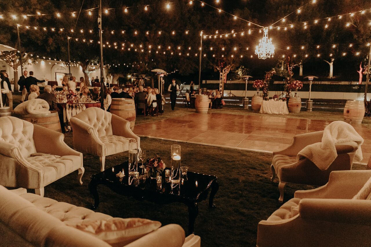 Beautifully Lit Reception And Dance Floor At Wente Vineyard S