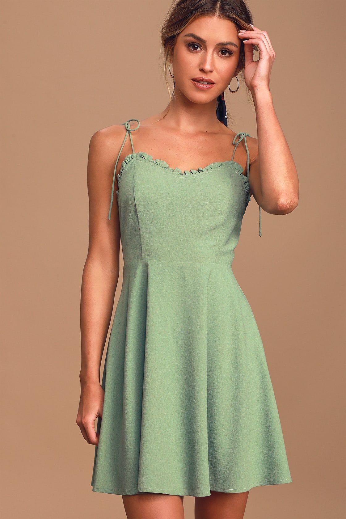 27++ Sage green dress info