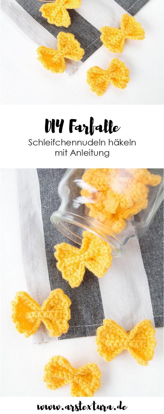 Photo of Anleitung: Farfalle Pasta häkeln | ars textura – DIY-Blog, # ANWEISUNGEN #ars